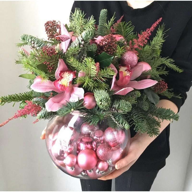 Рождественская ваза
