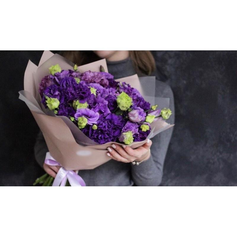Фиолетовый микс из эустомы