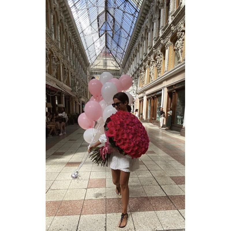 101 роза Пинк Флойд + шары