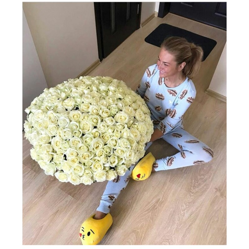 201 белая роза высота 70 см.