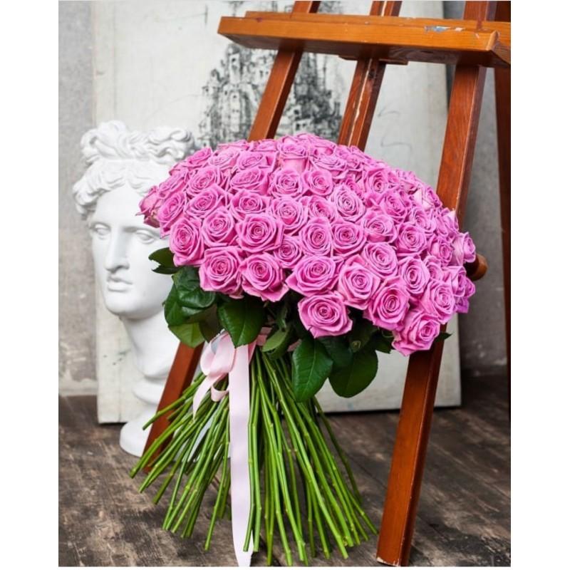 101 роза Аква высота 70 см