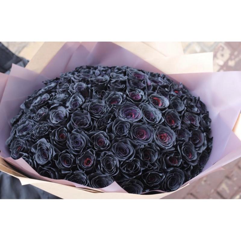 101 черная роза
