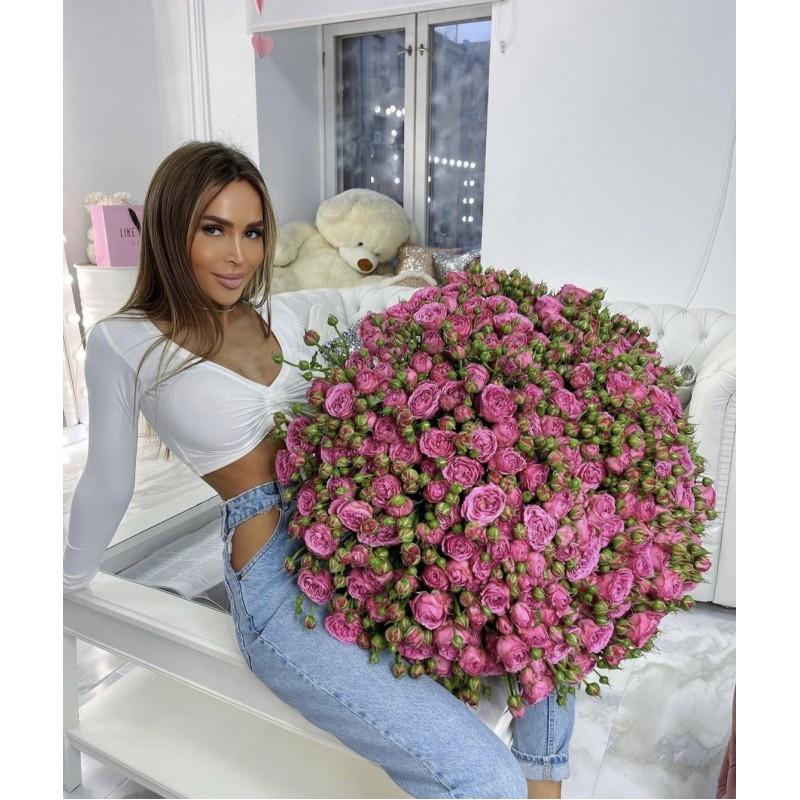 101 пионовидная роза Мисти Баблз