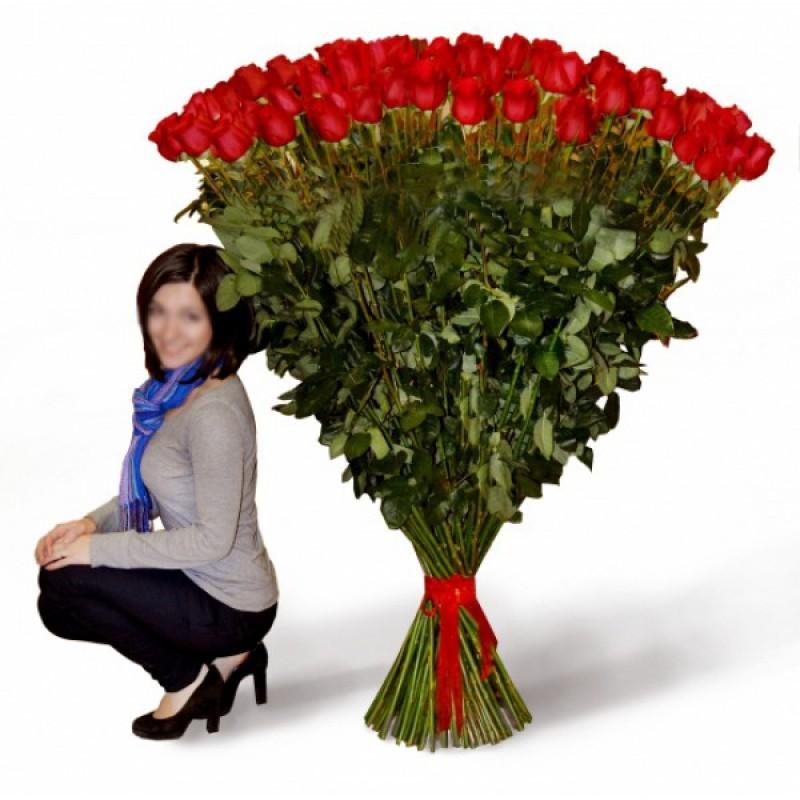 101 роза 120 см. высотой