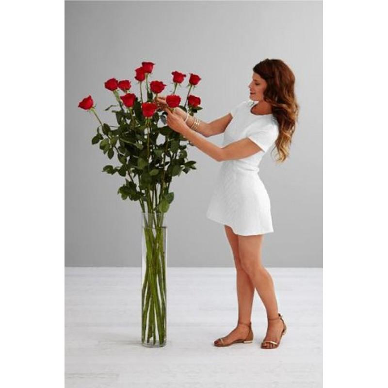 Розы 120 см., 19 штук  в вазе