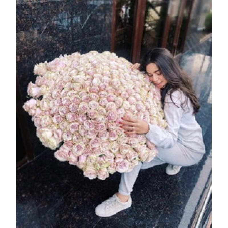 Розовые розы Эквадор высота 80 см