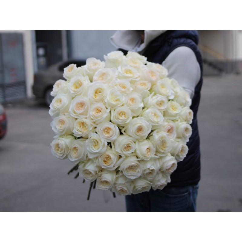 Пионовидные розы КэндлЛайт