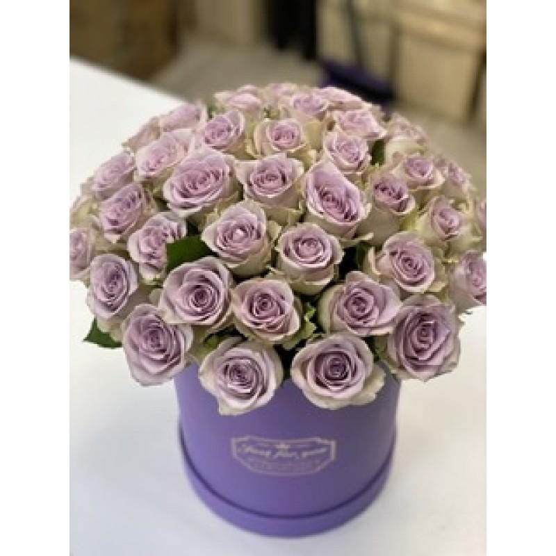 51 сиреневая роза Оушен Сонг в коробке