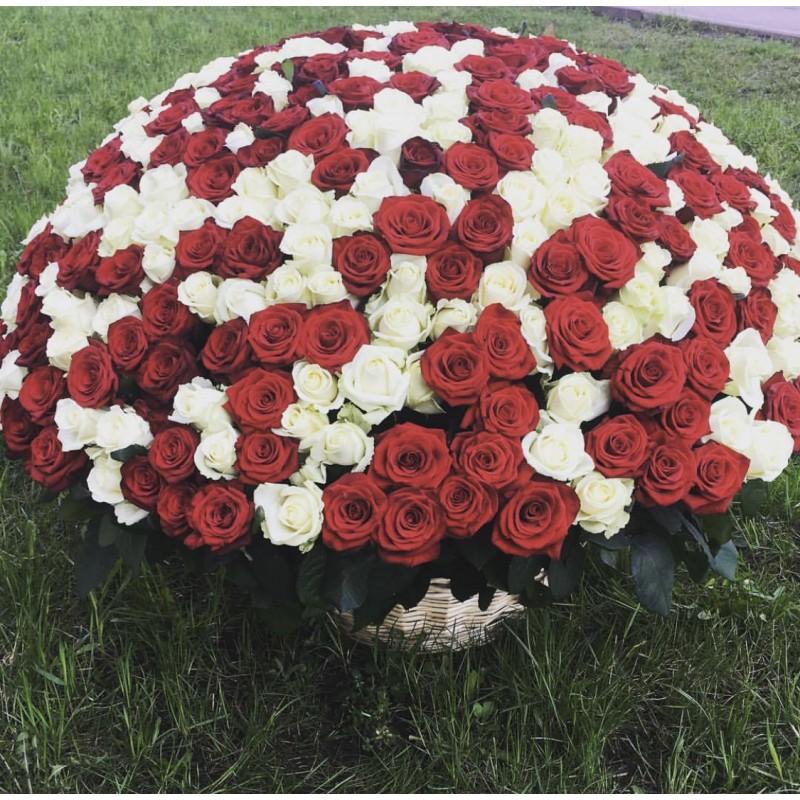 Корзина 201 роза микс
