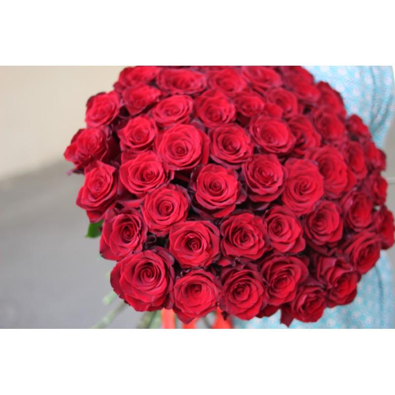 51 красная роза, 60 см, Эквадор