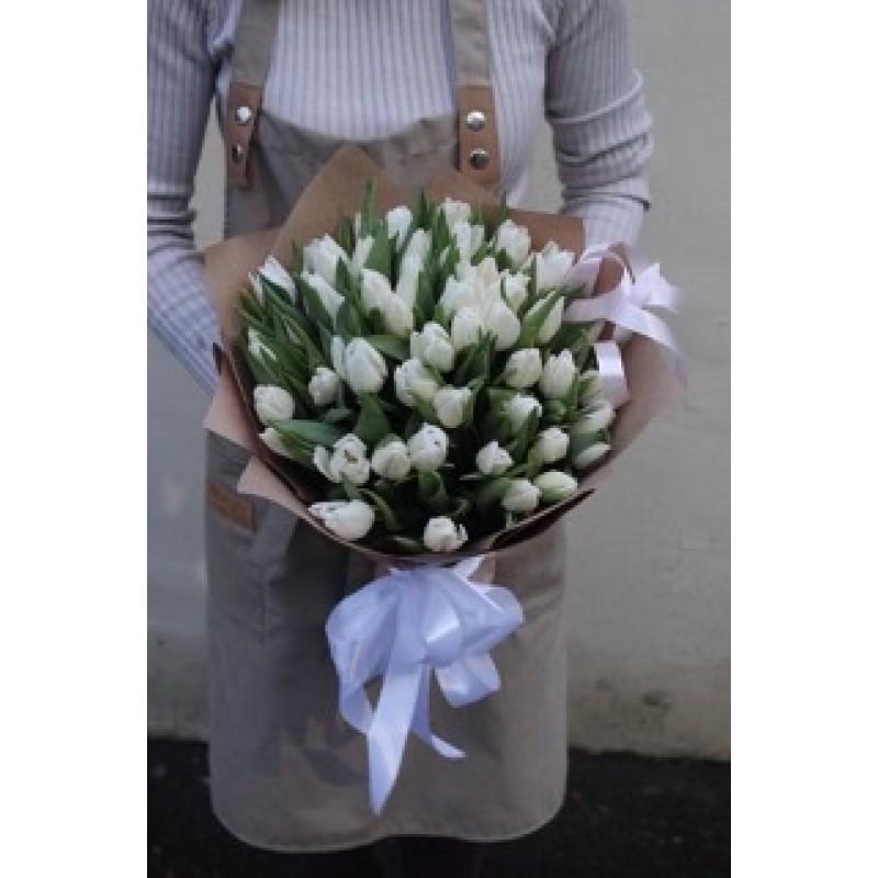 51 белый тюльпан
