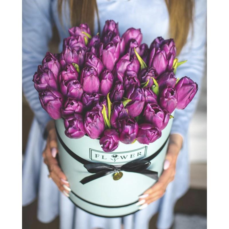 Фиолетовые тюльпанчики