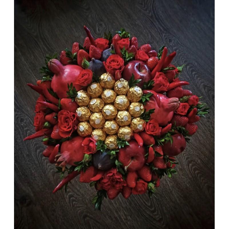 Фруктово-шоколадный букет