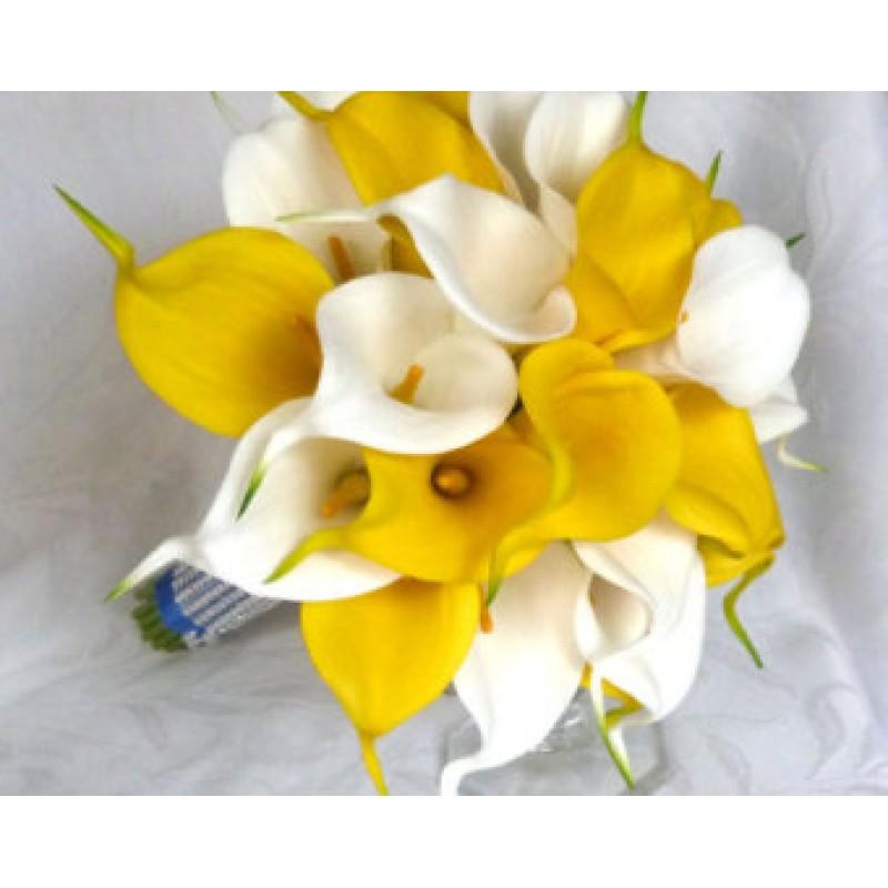 Белое и желтое