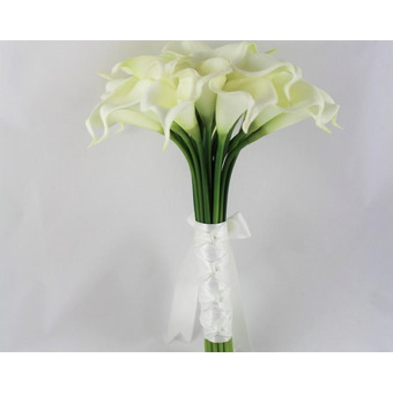 Букет невесты из белых калл «Фаворит»